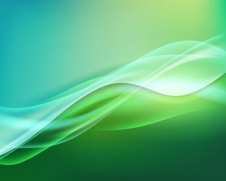 抽象的な緑色の背景の波