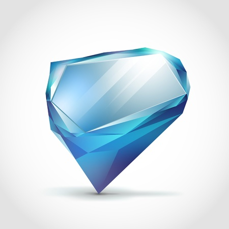 crystal speech bubble  イラスト・ベクター素材