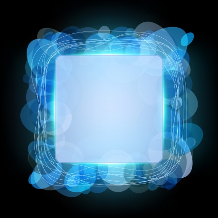 Abstract frame with shining circles Vector