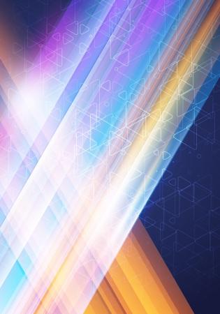 抽象的なベクトルの交差線が光って