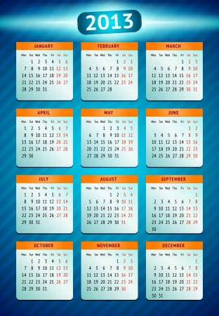 Vector calendar 2013 Stock Vector - 14610205