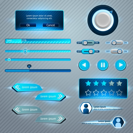 player buttons: Set of User Interface