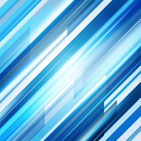 Blue Abstract Straight Lines Background. Vector Illustration