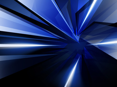 flicker: Dark Abstract Background of Blue Luminous Rays