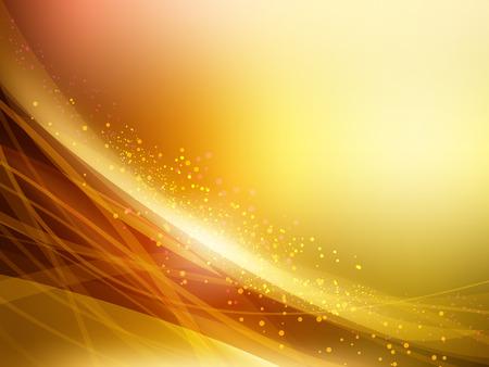 waves: Abstract Golden Vector Waves Background. Vector Illustration Illustration