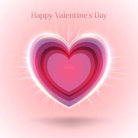 shiny day: Valentines Day Abstract Background. Romantic Vector Illustration for Greeting Cards Design. Happy Valentines Day