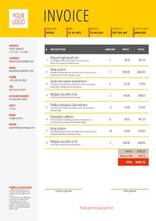 Vektor Anpassbare Rechnungsformular Template Design. Vektor ...