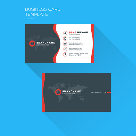 Corporate Business Card Print Template. Personal Visiting Card ...