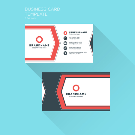 Corporate business card print template personal visiting card corporate business card print template personal visiting card with company clean flat design accmission Image collections