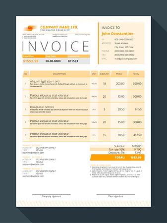 Customizable invoice form template design illustration royalty free customizable invoice form template design illustration stock vector 53649364 maxwellsz