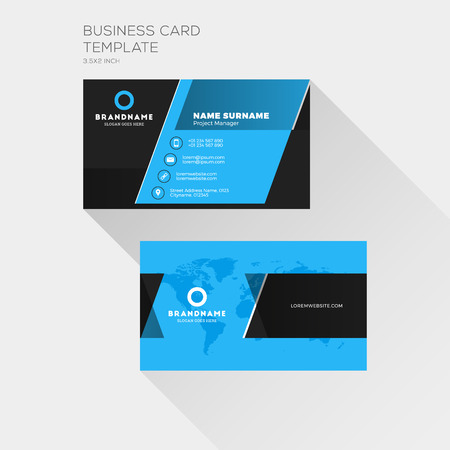 Corporate business card print template personal visiting card corporate business card print template personal visiting card with company logo clean flat design friedricerecipe Gallery