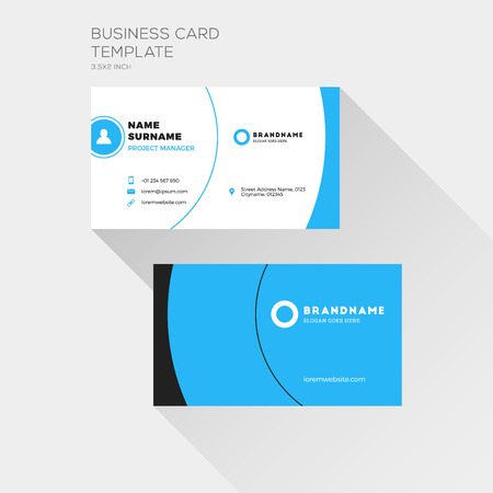 Corporate business card print template personal visiting card corporate business card print template personal visiting card with company logo clean flat design wajeb Image collections