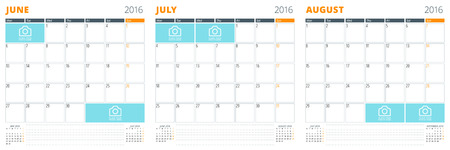 summer calendar template