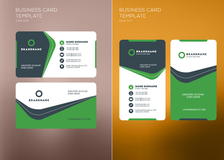 Corporate business card print template personal visiting card corporate business card print template personal visiting card with company logo vertical and horizontal cheaphphosting Images