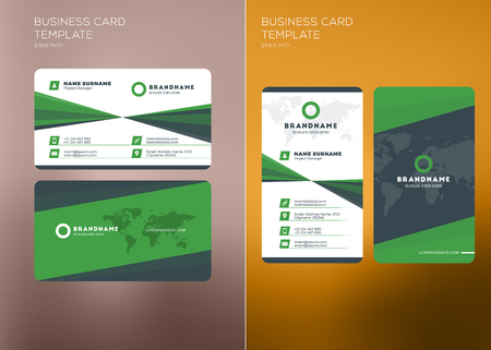 Corporate business card print template personal visiting card corporate business card print template personal visiting card with company logo vertical and horizontal friedricerecipe Choice Image