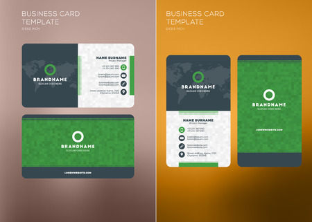 Corporate business card print template personal visiting card corporate business card print template personal visiting card with company logo vertical and horizontal maxwellsz