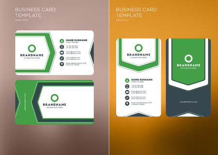 Corporate business card print template personal visiting card corporate business card print template personal visiting card with company logo vertical and horizontal colourmoves
