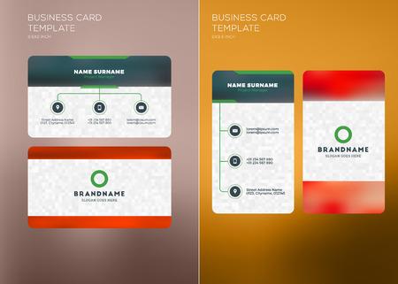 Corporate business card print template personal visiting card corporate business card print template personal visiting card with company logo vertical and horizontal wajeb Choice Image