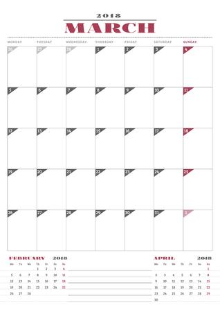 Atemberaubend Monatliche Kalenderplaner Vorlage Zeitgenössisch ...