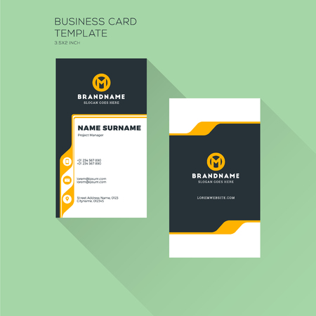 Vertical business card print template personal visiting card vector vertical business card print template personal visiting card with company logo clean flat design vector illustration fbccfo Image collections