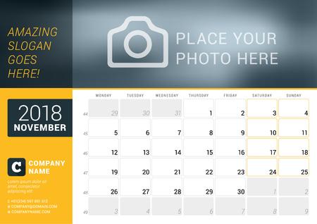 november 2018 calendars spot