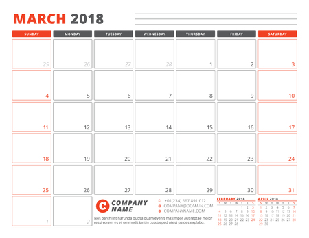 march 2018 template