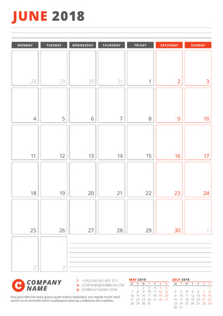 Calendar template for june 2018 business planner 2018 template calendar template for june 2018 business planner 2018 template stationery design week starts friedricerecipe Choice Image