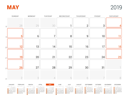 may 2019 weekly calendar