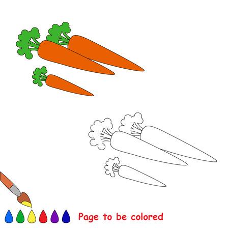 zanahoria caricatura: Zanahoria de dibujos animados para colorear. Libro para colorear para los niños.