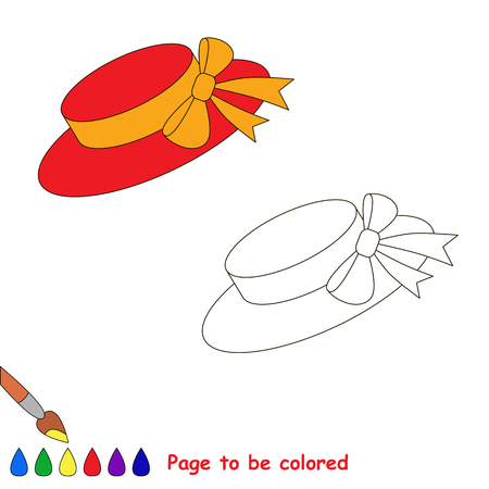 cartoon hat: Cartoon hat to be colored. Coloring book for kids.