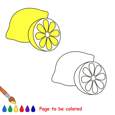 coloring sheets: Cartoon lemon  to be colored. Coloring book for children.