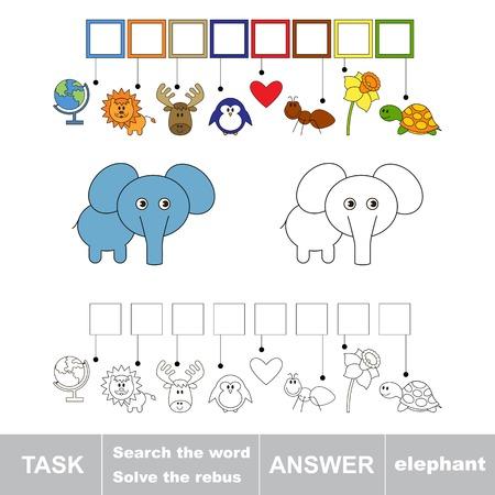 solve: Solve the rebus. Find hidden word ELEPHANT.