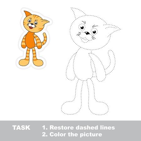 Trace-Spiel Für Kinder. Ein Cartoon-Fisch Zu Verfolgen ...