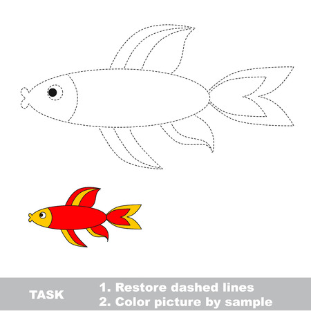 restore: Red fish to be traced. Dot to dot. Connect dost, then color the picture by sample.