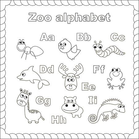 El Niños Completos Inglés Alfabeto Animales Zoológico Con Animales ...