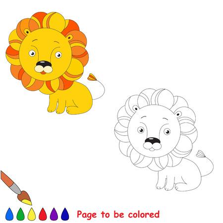 León De Juguete De Color Naranja. Juego De Niños. Libro De Colorear ...