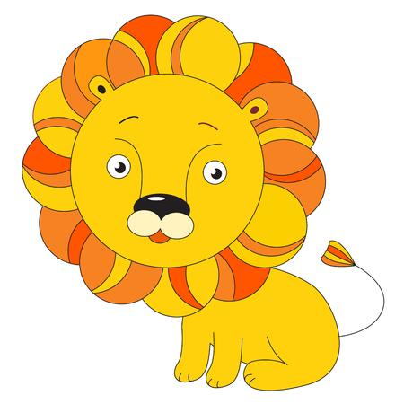 leon bebe: Imagen del vector del le�n naranja - un juguete para los ni�os.