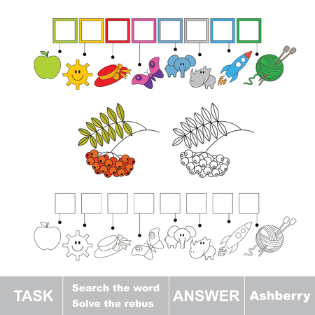 ashberry: Vector game. Solve the rebus and find the word ashberry. Task and answer.