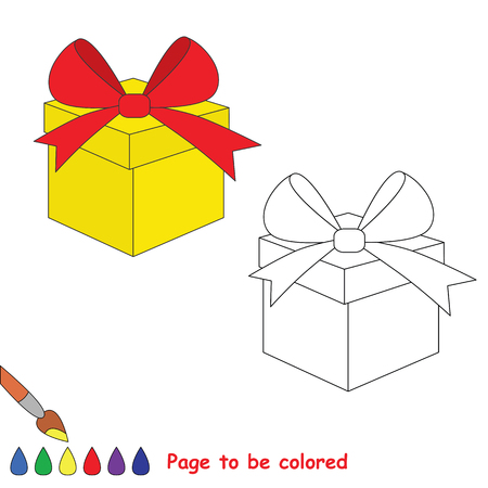 coloring sheets: Vector cartoon gift to be colored. Coloring book for children. Illustration
