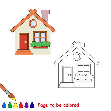 Vector cartoon hause to be colored. Coloring book for children.