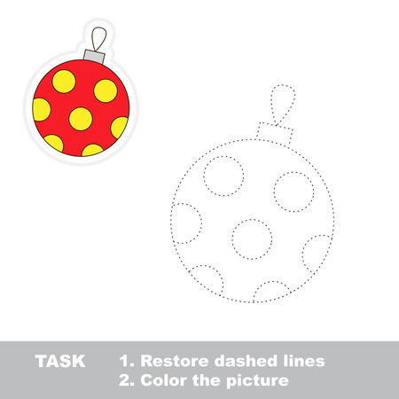 dashed line: Glass ball vector to be traced. Restore dashed line and color the picture.