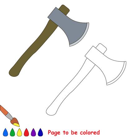 Juguete Hacha En La Historieta Del Vector Para Ser Coloreado. Libro ...