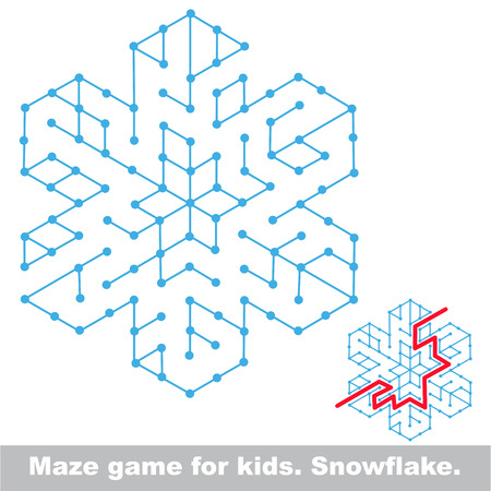 Maze game. Search the way. Help to fihd the solution. Kid labyrinth game. Ilustração