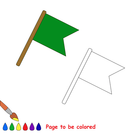 coloring sheets: Flag in vector cartoon to be colored. Coloring book for children.