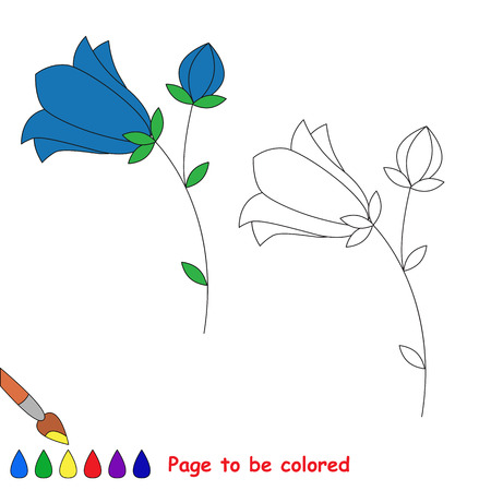 bluebell: Bluebell in vector cartoon to be colored. Coloring book for children.
