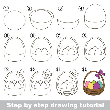 How To Draw A Easter Basket Royalty Free Cliparts Vectors And Stock Illustration Image 51396990