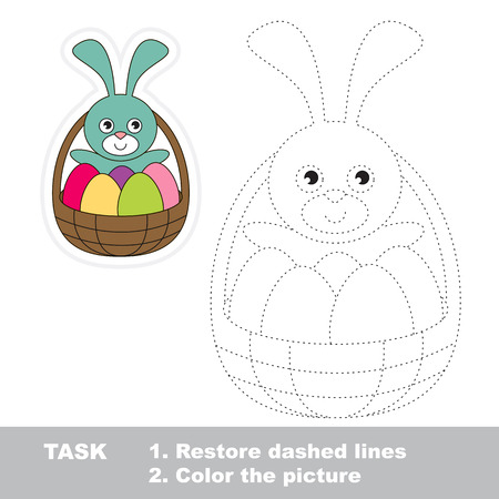 restore: Easter Basket in vector to be traced. Restore dashed line.