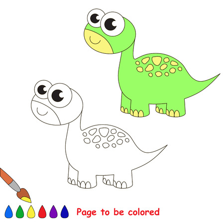 brontosaurus: Brontosaurus to be colored. Coloring book for children. Visual game.