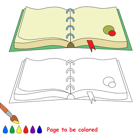 d mark: Diary to be colored. Coloring book for children. Visual game. Illustration