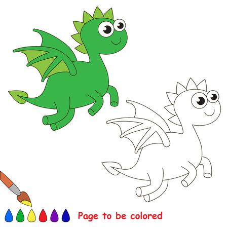Dragón Para Ser Coloreado. Libro De Colorante Para Los Niños. Juego ...